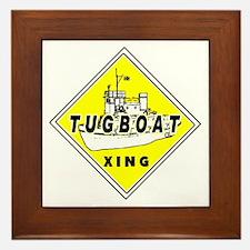 Tugboat Xing sign Framed Tile