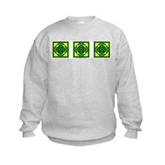 Green Flower Design Sweatshirt