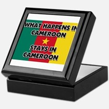 What Happens In CAMEROON Stays There Keepsake Box