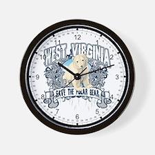 Polar Bear West Virginia Wall Clock
