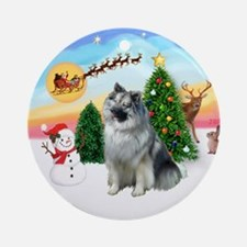 Take Off 1 - Keeshond 2 Ornament (Round)