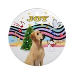 Xmas Music (P) - Yellow Labrador Ornament (Round)