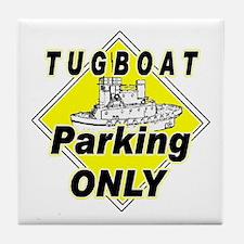 Tug Boat Parking Only Tile Coaster