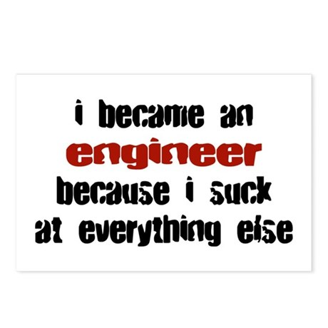 Engineer Suck at Everything Postcards (Package of