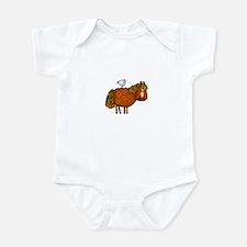 horsing around (no text) Infant Bodysuit