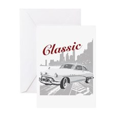 CLASSIC 50'S BUICK Greeting Card