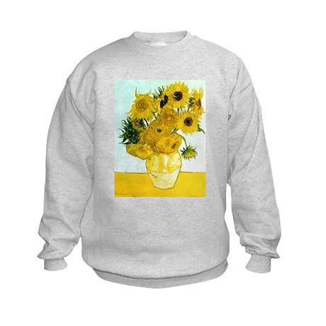 Van Gogh Sunflowers Kids Sweatshirt