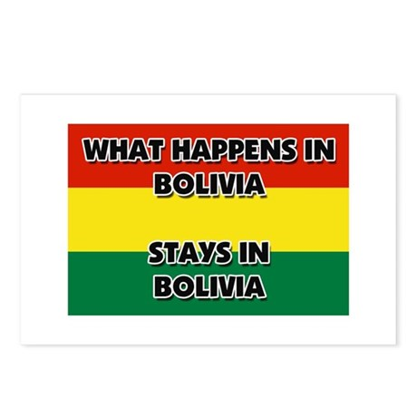 What Happens In BOLIVIA Stays There Postcards (Pac