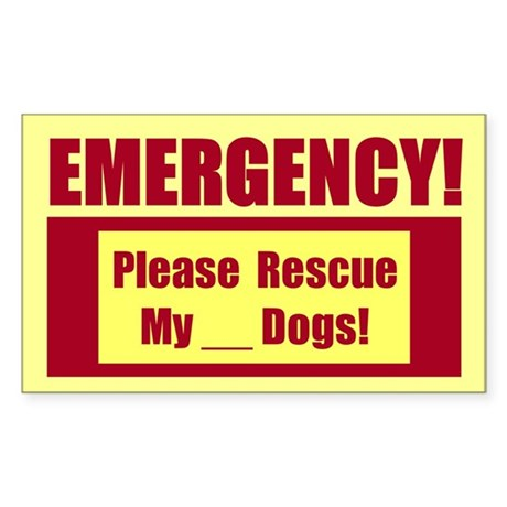 Rescue My Dogs Emergency Sticker B 10 Pack