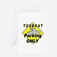 Tug Boat Parking Only Greeting Card