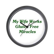 Gluten Free Miracles Wall Clock