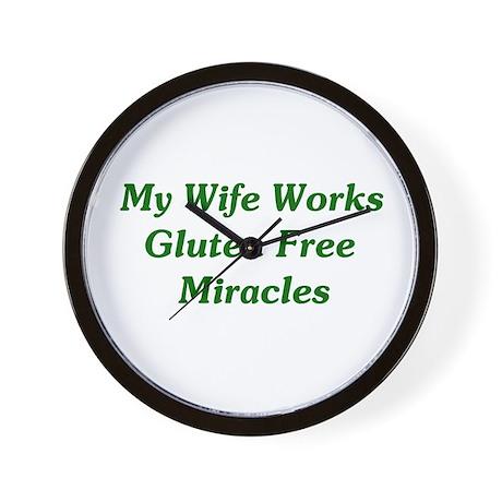 Gluten Free Miracles Wall Clock