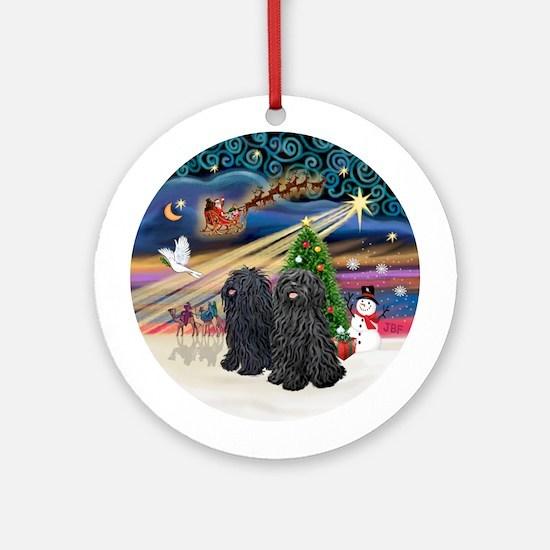 Xmas Magic - Two Pulis Ornament (Round)