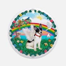 Rainbow2-Rat Terrier Ornament (Round)