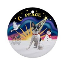 XSunrise-Rat Terrier #2 Ornament (Round)
