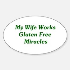 Gluten Free Miracles Oval Decal