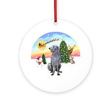 The Take Off - Scottish Deerhound Ornament (Round)