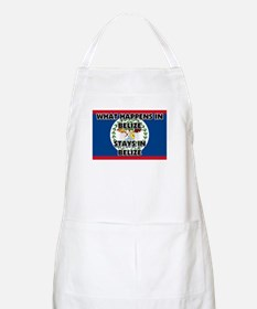 What Happens In BELIZE Stays There BBQ Apron