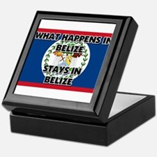 What Happens In BELIZE Stays There Keepsake Box