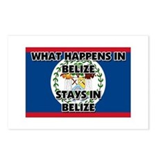 What Happens In BELIZE Stays There Postcards (Pack