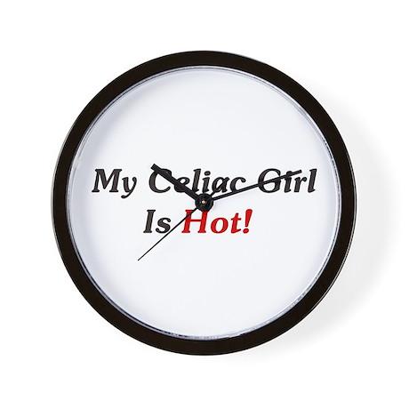 My Celiac Girl Is Hot! Wall Clock