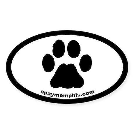 Cat Paw Oval Sticker