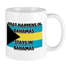 What Happens In BAHAMAS Stays There Small Mug