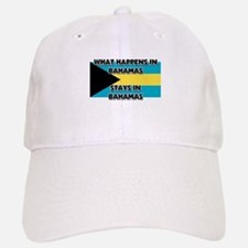 What Happens In BAHAMAS Stays There Baseball Baseball Cap