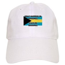 What Happens In BAHAMAS Stays There Baseball Cap