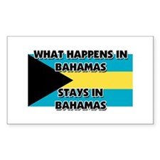 What Happens In BAHAMAS Stays There Decal