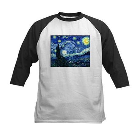 Starry Night Kids Baseball Jersey