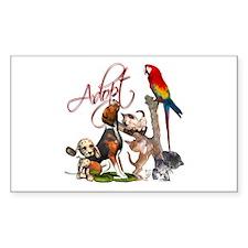 Adopt a Pet Rectangle Sticker 10 pk)