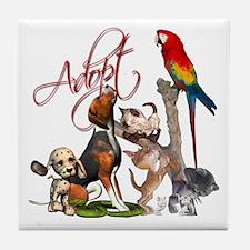 Adopt a Pet Tile Coaster