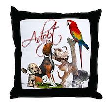 Adopt a Pet Throw Pillow