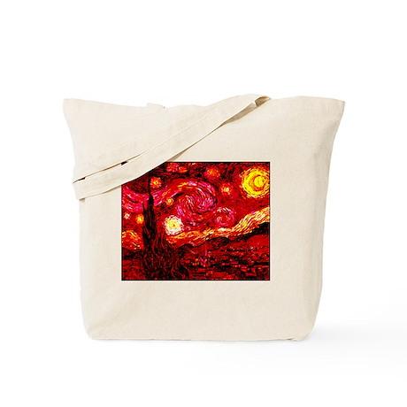 Fiery Night Tote Bag