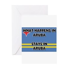 What Happens In ARUBA Stays There Greeting Card
