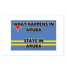 What Happens In ARUBA Stays There Postcards (Packa