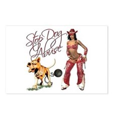Cowboy Sherrif, Dog Abuse Postcards (Package of 8)