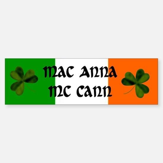 McCann Coat of Arms Sticker (Bumper)