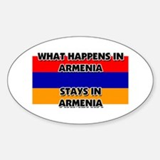 What Happens In ARMENIA Stays There Oval Decal