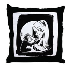 Gillian and Pal Throw Pillow