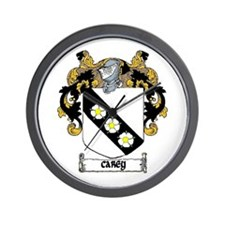 Carey Coat of Arms Wall Clock