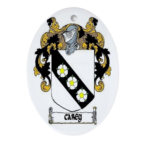 Carey Coat of Arms Ornament (Oval)