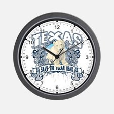 Polar Bear Texas Wall Clock