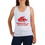 Rhino's Life Women's Tank Top - Red Logo