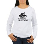 Rhino's Life Women's Long Sleeve Tee - Black Logo