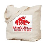 Rhino's Life Tote Bag - Red Logo