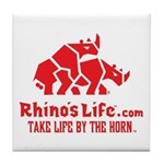 Rhino's Life Tile Coaster - Red Logo