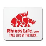 Rhino's Life Mousepad - Red Logo