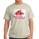 Rhino's Life Light T-Shirt - Red Logo